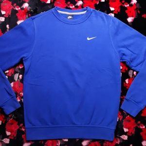 Y2K Nike Basic Blank Blue Crew Neck Sweatshirt Size Medium